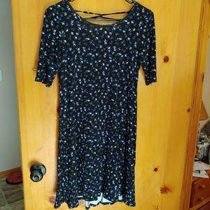American Eagle Lace Up Jersey Dress